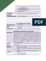 Plan Unidad Didactica Formato 1 Nuevo