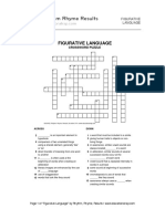 Figurative Language Crossword 2