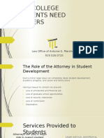 student legal services presentation