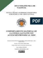 CRESPO - Comportamiento Maternal de La Coneja Lactante Con Acceso Restringido Al Nido