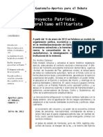 El proyecto patriota. Neoliberalismo militarista
