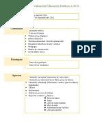 Plan de Evaluación Educación Estética a-2016
