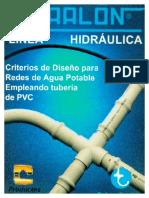Criterios de diseno para redes de agua potable empleando tuberia de PVC