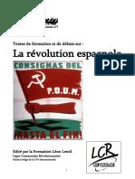 1936 Revolution Espagnole