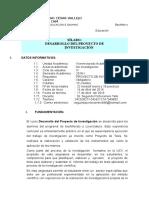 Silabo Desarrollo de Proyecto de Investigacion Nvo.cajamarca