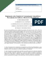Reglamento Emision Contaminantes Costa Rica