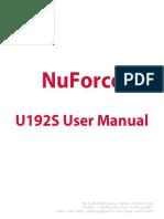 Nuforce U192S Manual