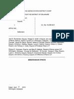 Mobilemedia Ideas, LLC v. Apple Inc., C.A. No. 10-258-SLR (D. Del. Apr. 11, 2016).
