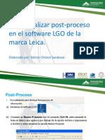 Como Realizar Post-Proceso en LGO