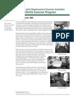 Pre-Op Osteoarthritis Exercise Program
