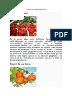 Zonas Frutícolas de Venezuela.