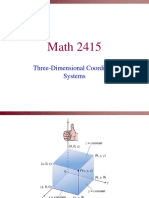 Calculus 3 - Three Dimensional Coordinate System Lecture
