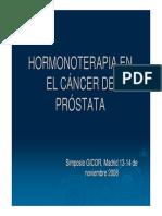Hormonoterapia en Cancer de Prostata - C Martin de Vidales