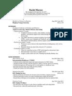 rachel haynes resume
