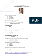 Questionnaire de Lecture - Le Théatre Du Poulailler