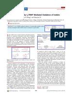 oxidation of indoles to isatins OL 2014