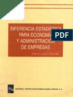 Inferencia Estadistica Para Economia y Administracion de Empresas - Sanchez