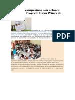 Maestros Campesinos Son Actores Claves Del Proyecto Haku Wiñay de Foncodes