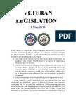 Veteran Legislation 160501