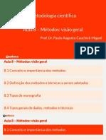 Curso - Metodologi Cientifica - Cap 8