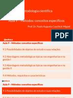 Curso - Metodologi Cientifica - Cap 9