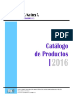 2016 - JGMR - Catalogo de Productos