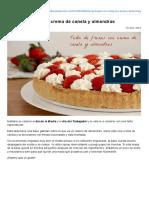 Tarta de Fresas Con Crema de Canela y Almendras » Recetas Thermomix _ MisThermorecetas