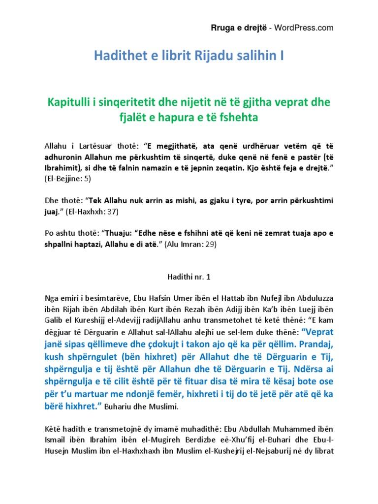 Hadithet E Librit Rijadu Salihin Vll 1pdf