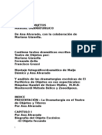 Teatro de Objetos.manual Dramatúrgico