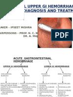 Non Variceal Upper Gi Hemorrhage