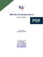 WAV Group 2004 MLS Tech Survey Report
