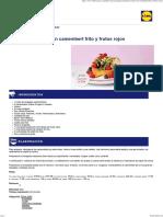 Ensalada Variada Con Camembert Frito y Frutos Rojos
