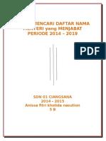 34 kabinet baru