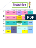 timetable term 2