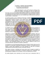 Educacion y Vision Universalista - Mar65 - Herbert Teschendorff, F.R.C.