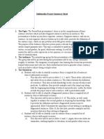 Summary Sheet for Sentences