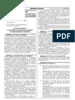 Ley que oficializa el Sistema de Cuadrículas Mineras en coordenadas UTM WGS84