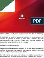 10. Política y Objetivos de La Calidad