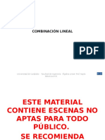 Combinacion Lineal Parte 1 Diapositivas