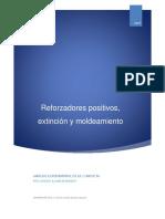 Modificacion de la conducta_reforzadores positivos, extinción y moldeamiento.