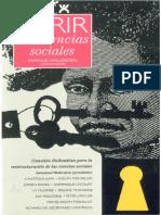Abrir Las Ciencias Sociales (Wallerstein)