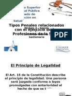 tipos penales relacionados con el ejercicio de las profesiones de la salud 2016