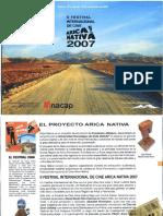 Catalogo Festival Arica Nativa 2007