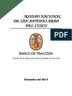 Banco Tracción Unsaac