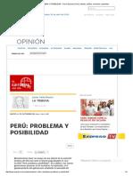 PERÚ_ PROBLEMA Y POSIBILIDAD - Diario Expreso _ Perú, Noticias, Política, Economía, Actualidad