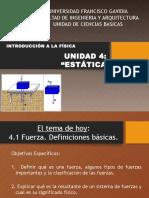Unidad 4 Estatica Definicion Fuerza