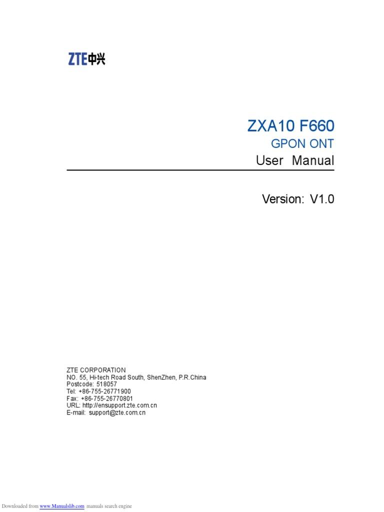 Zte f660 manual | Wireless Lan | Ip Address
