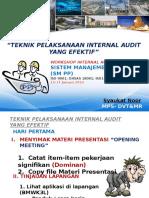 Teknik Pelaksanaan Internal Audit
