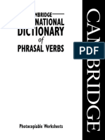 Cambridge International Dictionary of Phrasal Verbs - Pvwksheets