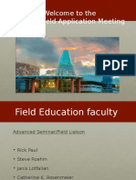 Field Placement Powerpoint